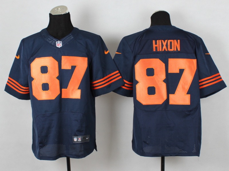 Chicago Bears 87 Hixon Blue Orange 2014 New Nike Elite Jerseys