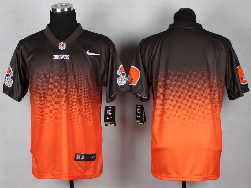 Cleveland Browns Blank Brown Orange 2014 Nlike Drift Fashion II Elite Jerseys
