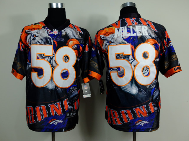 Denver Broncos 58 Von Miller NFL Nike fanatical version Jersey