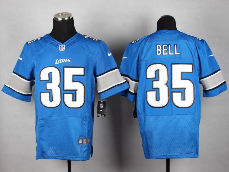 Detroit Lions 35 Bell Blue 2014 New Nike Elite Jerseys