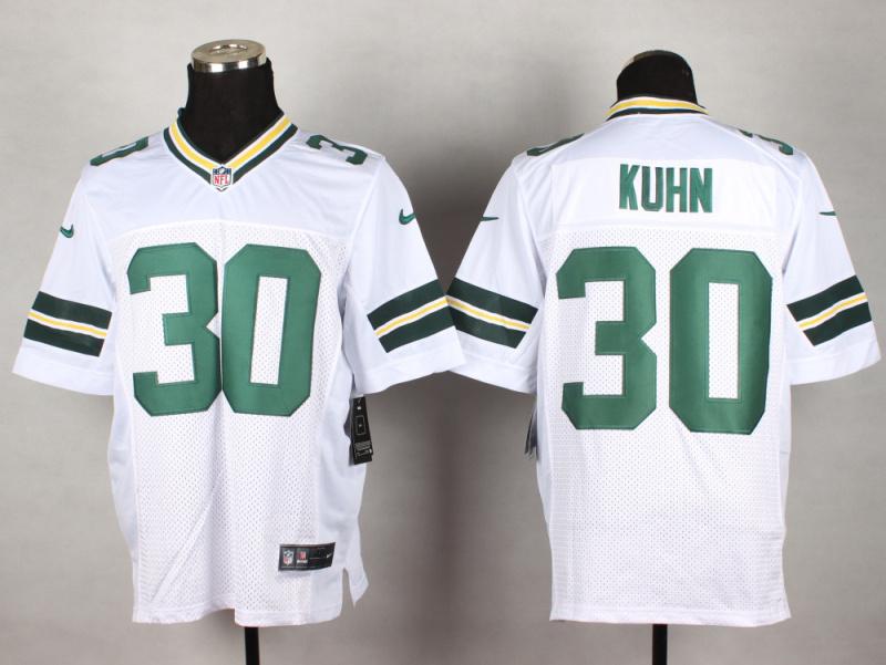 Green Bay Packers 30 Kuhn White 2014 New Nike Elite Jerseys