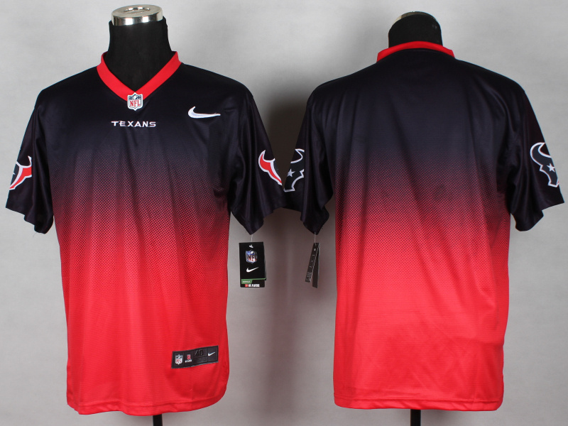 Houston Texans Blank Blue red 2014 Nlike Drift Fashion II Elite Jerseys
