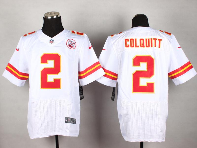 Kansas City Chiefs 2 Colquitt White 2014 New Nike Elite Jerseys