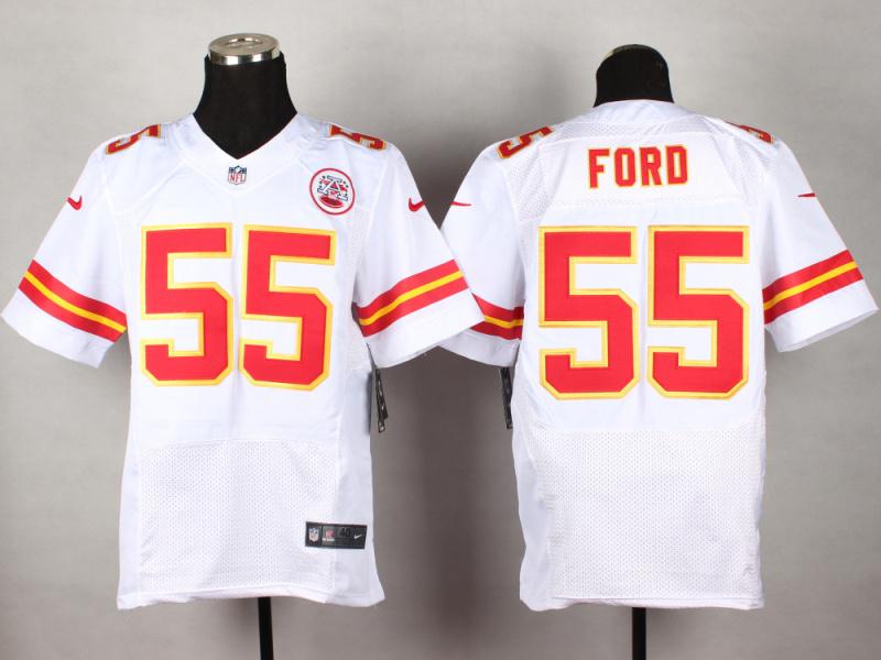 Kansas City Chiefs 55 Ford White 2014 New Nike Elite Jerseys