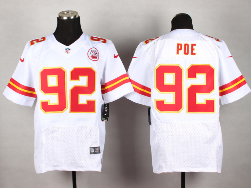 Kansas City Chiefs 92 Poe White 2014 New Nike Elite Jerseys
