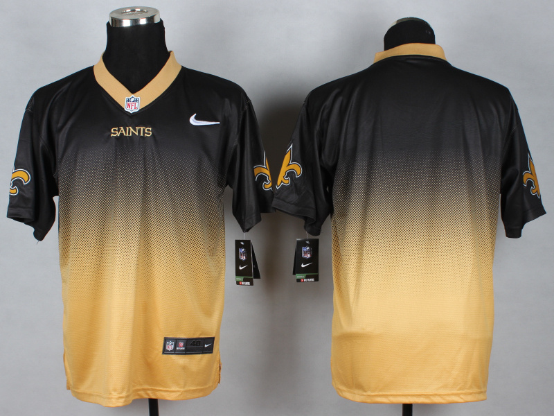 New Orleans Saints Blank black yellow 2014 Nlike Drift Fashion II Elite Jerseys