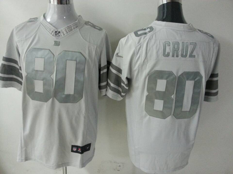 New York Giants 80 Victor Cruz Grey 2014 New Nike Game Jerseys