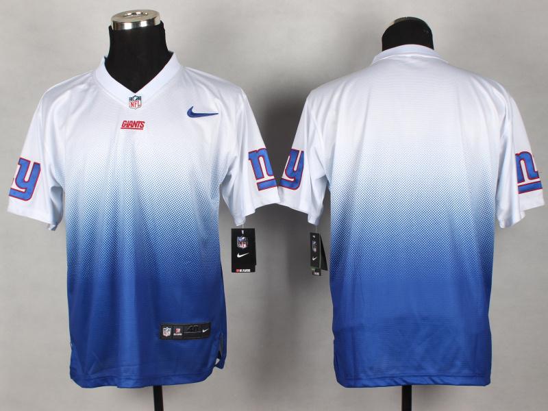New York Giants Blank white blue 2014 Nlike Drift Fashion II Elite Jerseys