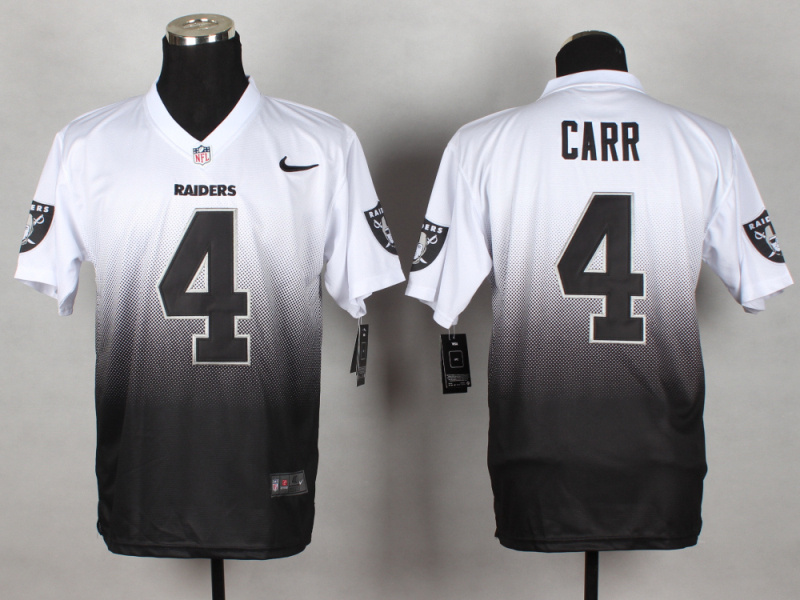 Oakland Raiders 4 Carr White black 2014 Nlike Drift Fashion II Elite Jerseys