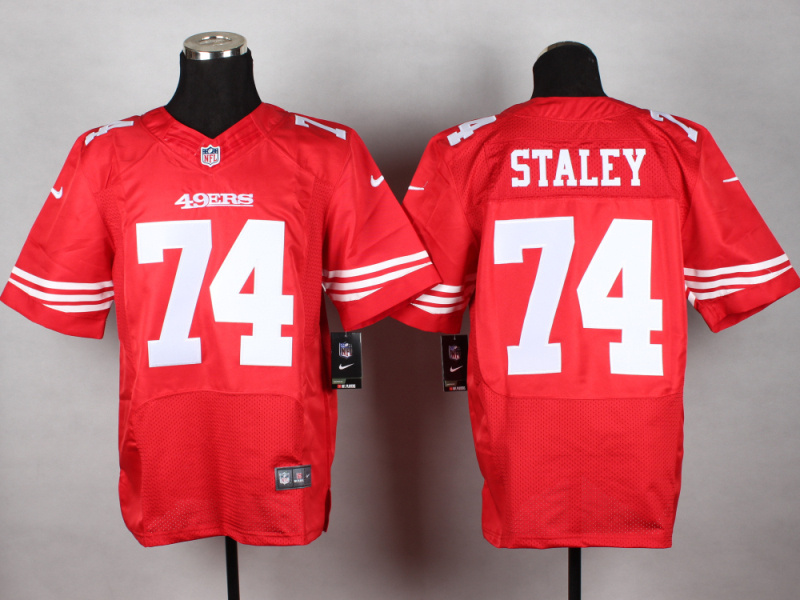 San Francisco 49ers 74 Staley red 2014 New Nike Elite Jerseys