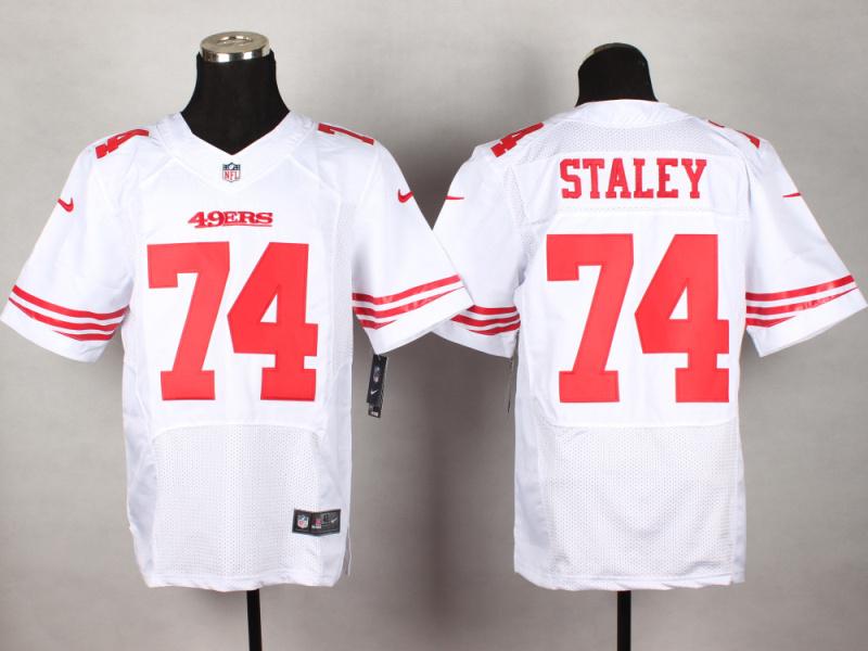 San Francisco 49ers 74 Staley White 2014 New Nike Elite Jerseys