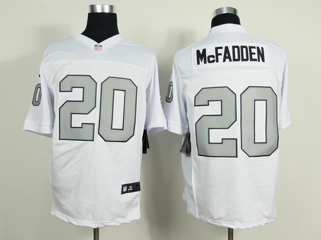 Oakland Raiders 20 McFadden White Silver 2014 New Nike Elite Jerseys