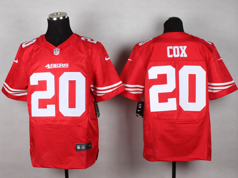 San Francisco 49ers 20 Cox red 2014 New Nike Elite Jerseys