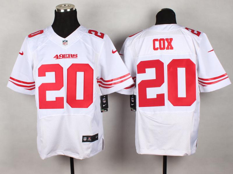 San Francisco 49ers 20 Cox White 2014 New Nike Elite Jerseys