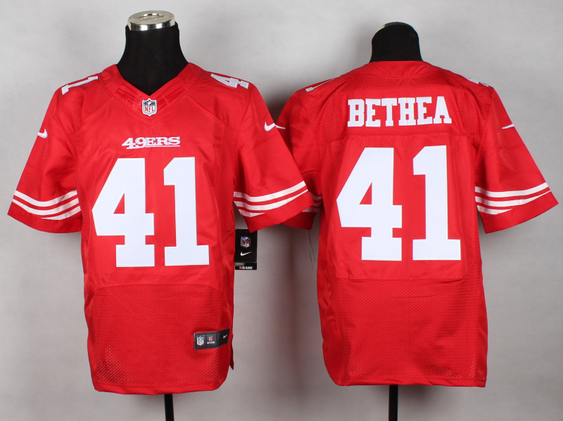 NFL Customize San Francisco 49ers 41 Bethea red 2014 New Nike Elite Jerseys