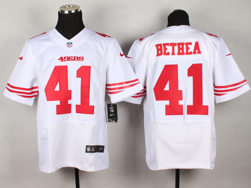 NFL Customize San Francisco 49ers 41 Bethea White 2014 New Nike Elite Jerseys