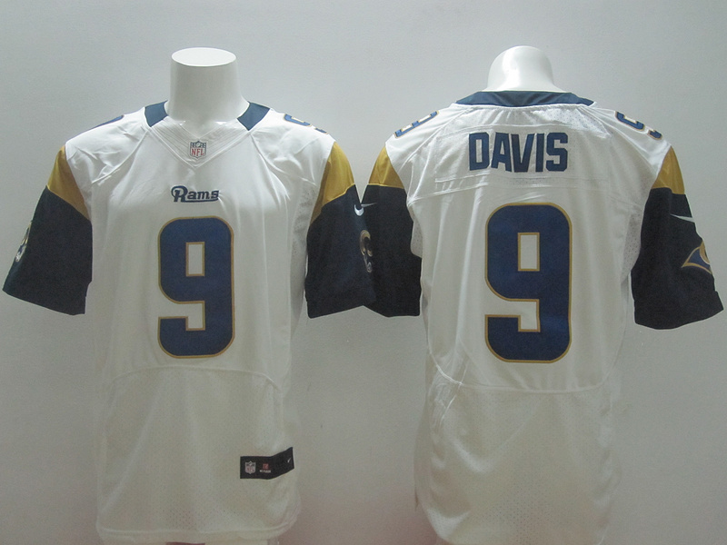St. Louis Rams 9 Davis White 2014 New Nike Elite Jerseys
