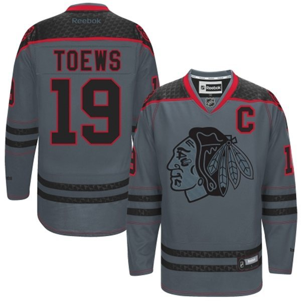 NHL Chicago Blackhawks 19 Toews Charcoal Fashion 2014 Jersey