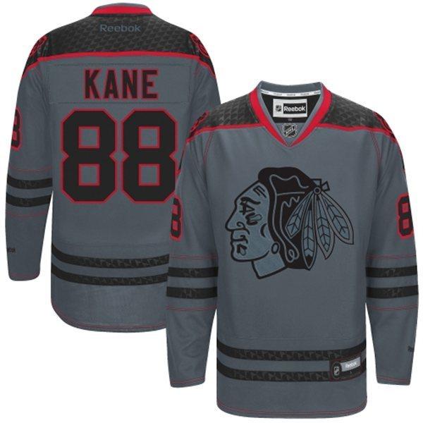 NHL Chicago Blackhawks 88 Kane Charcoal Fashion 2014 Jersey