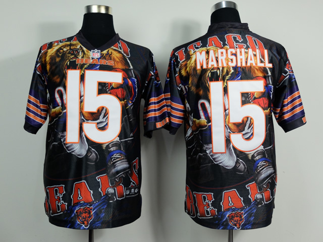 Chicago Bears 15 Brandon Marshall NFL Nike fanatical version Jersey