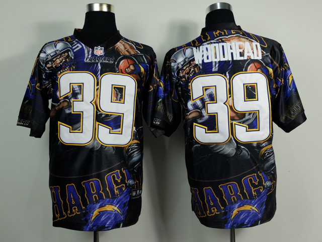 San Diego Chargers 39 Danny Woodhead NFL Nike fanatical version Jersey