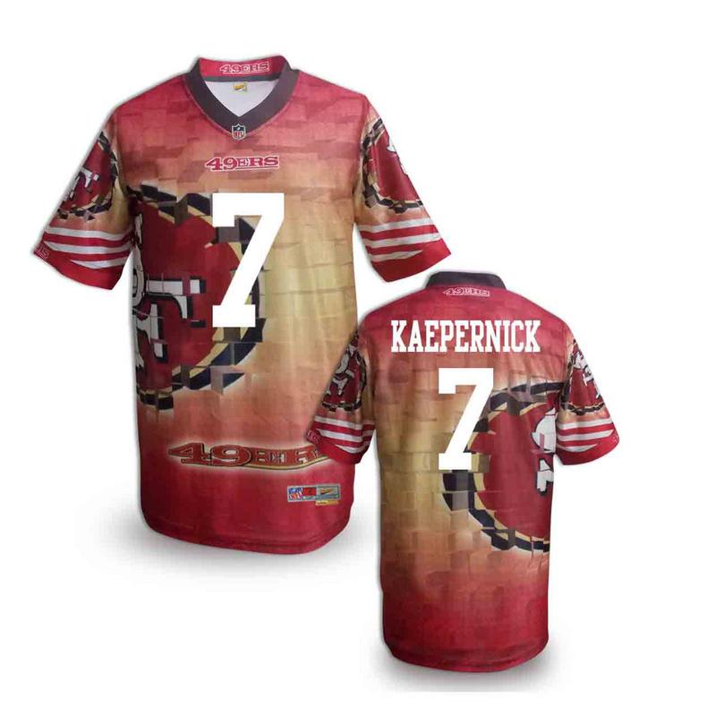 San Francisco 49ers 7 kaepernick NFL fashion version Jersey