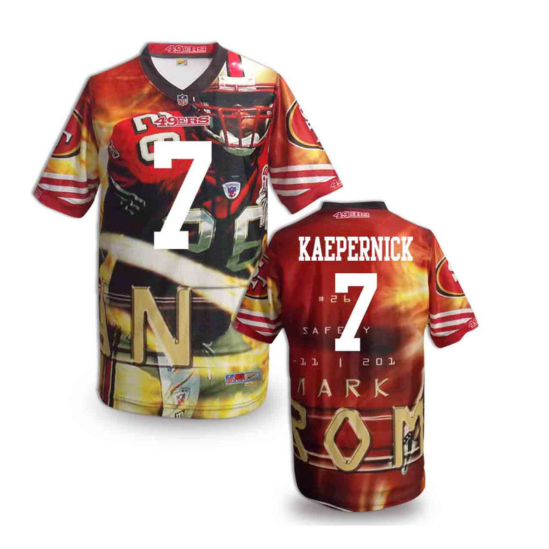 San Francisco 49ers 7 kaepernick NFL fashion version Jersey 3