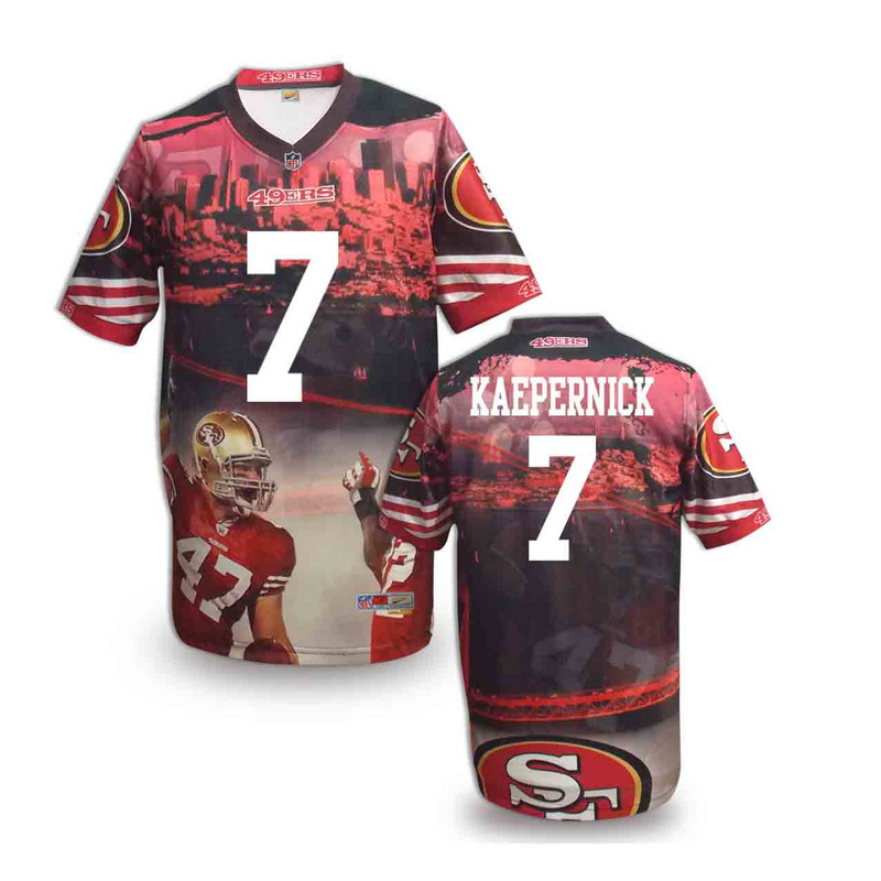 San Francisco 49ers 7 kaepernick NFL fashion version Jersey 4