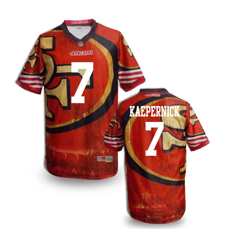 San Francisco 49ers 7 kaepernick NFL fashion version Jersey 5