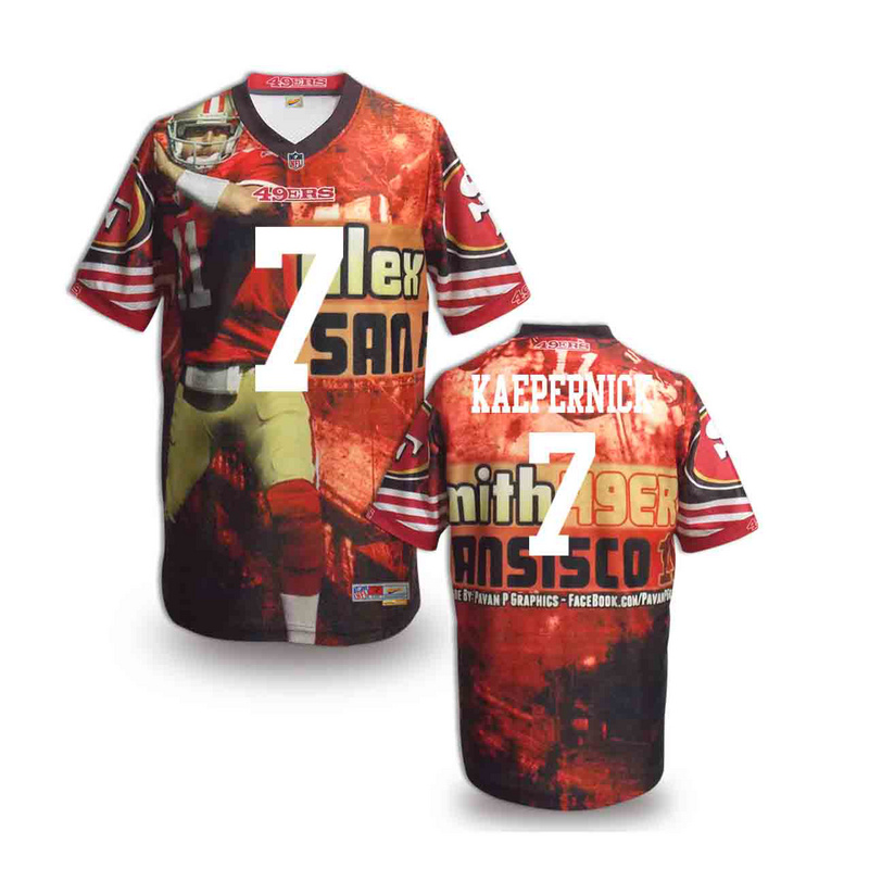 San Francisco 49ers 7 kaepernick NFL fashion version Jersey 6