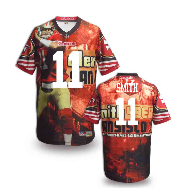 San Francisco 49ers 11 smith NFL fashion version Jersey 6