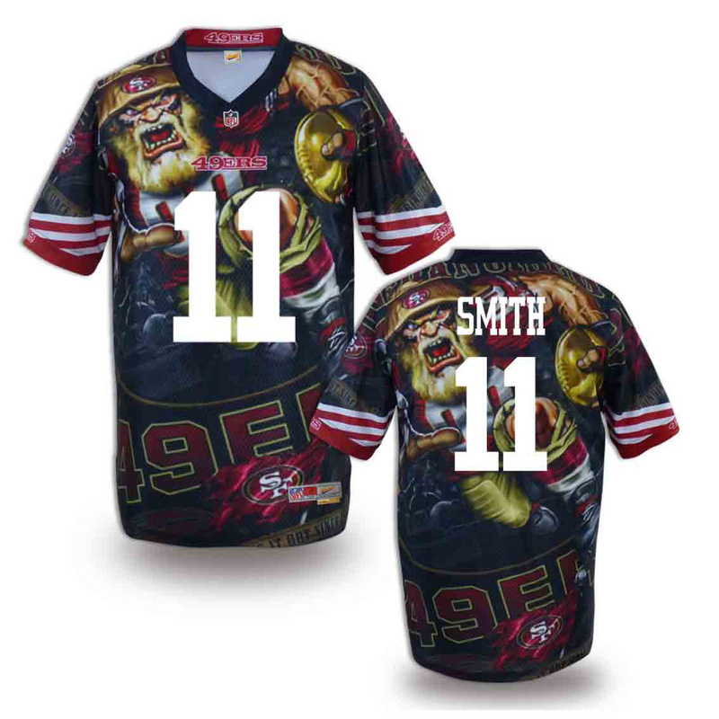 San Francisco 49ers 11 smith NFL fashion version Jersey 12