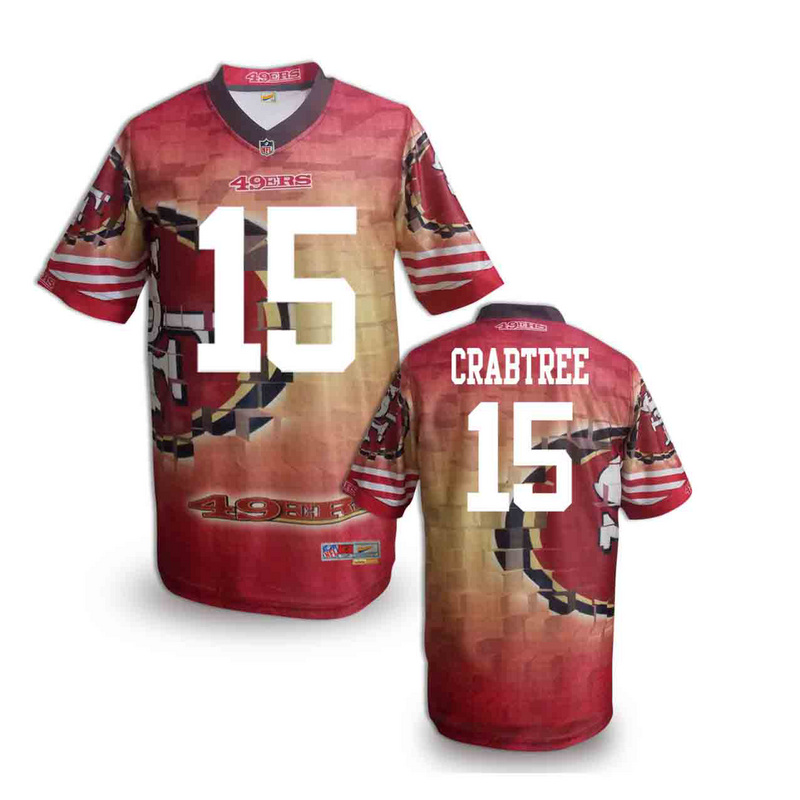 San Francisco 49ers 15 crabtree NFL fashion version Jersey