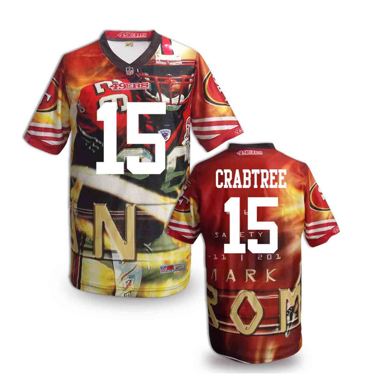 San Francisco 49ers 15 crabtree NFL fashion version Jersey 3