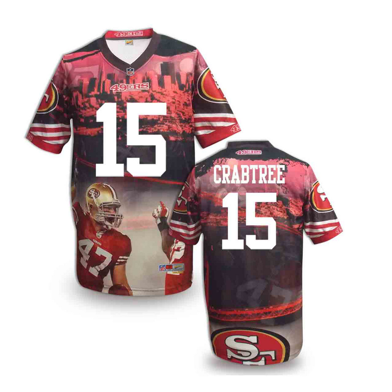 San Francisco 49ers 15 crabtree NFL fashion version Jersey 4