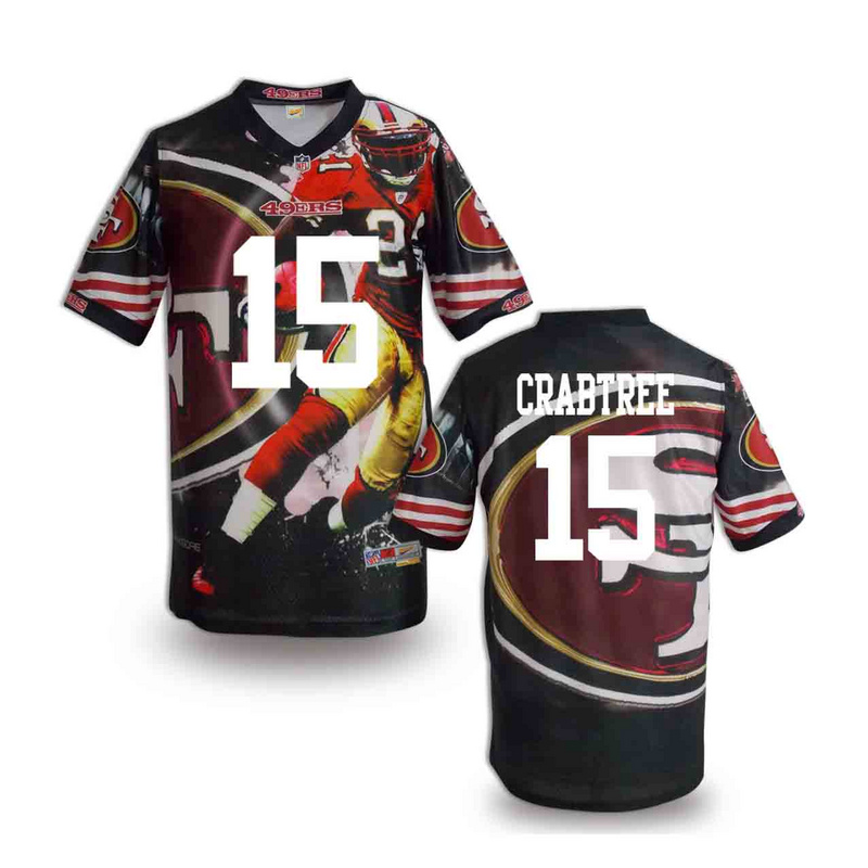 San Francisco 49ers 15 crabtree NFL fashion version Jersey 8