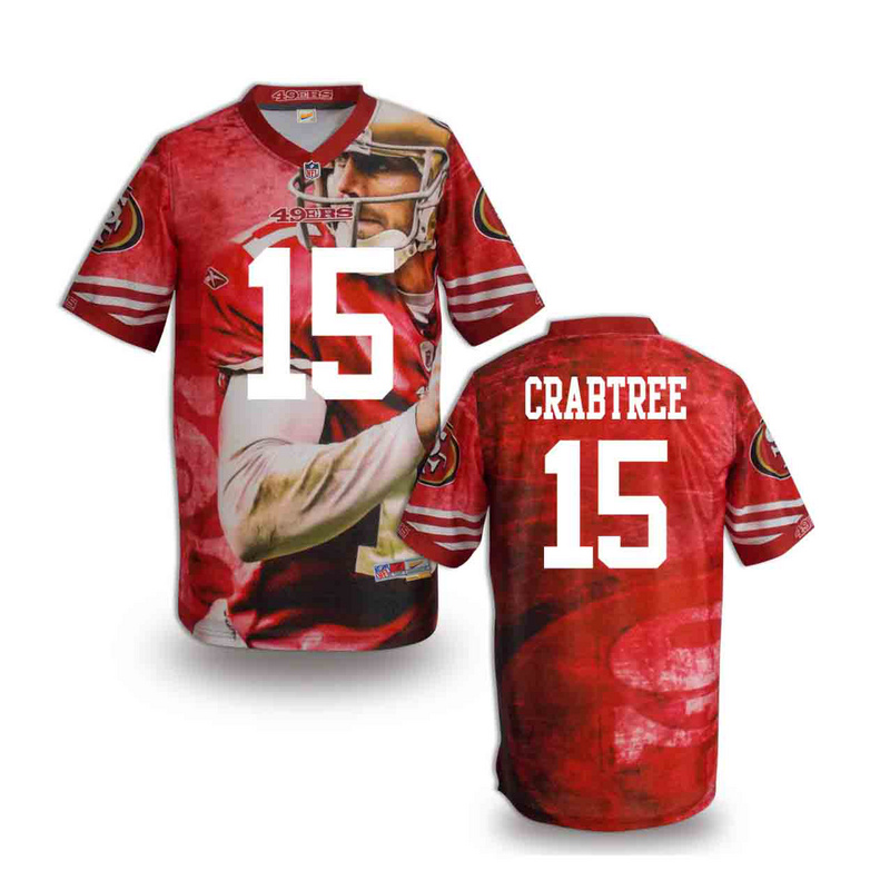 San Francisco 49ers 15 crabtree NFL fashion version Jersey 9
