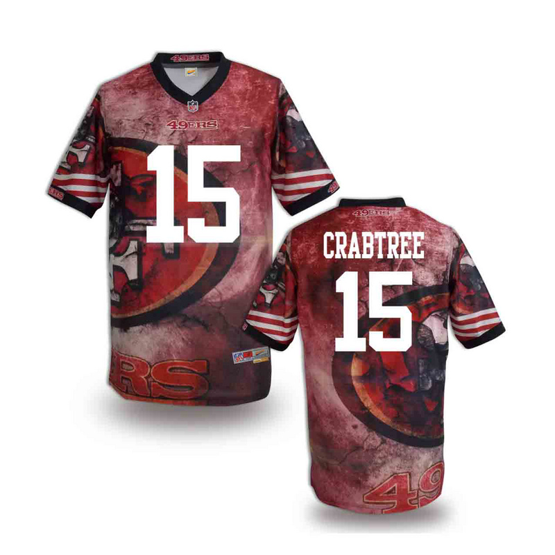 San Francisco 49ers 15 crabtree NFL fashion version Jersey 10