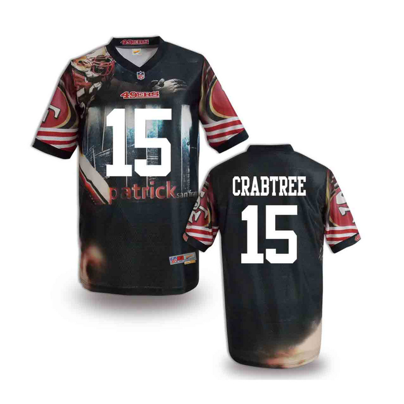 San Francisco 49ers 15 crabtree NFL fashion version Jersey 11