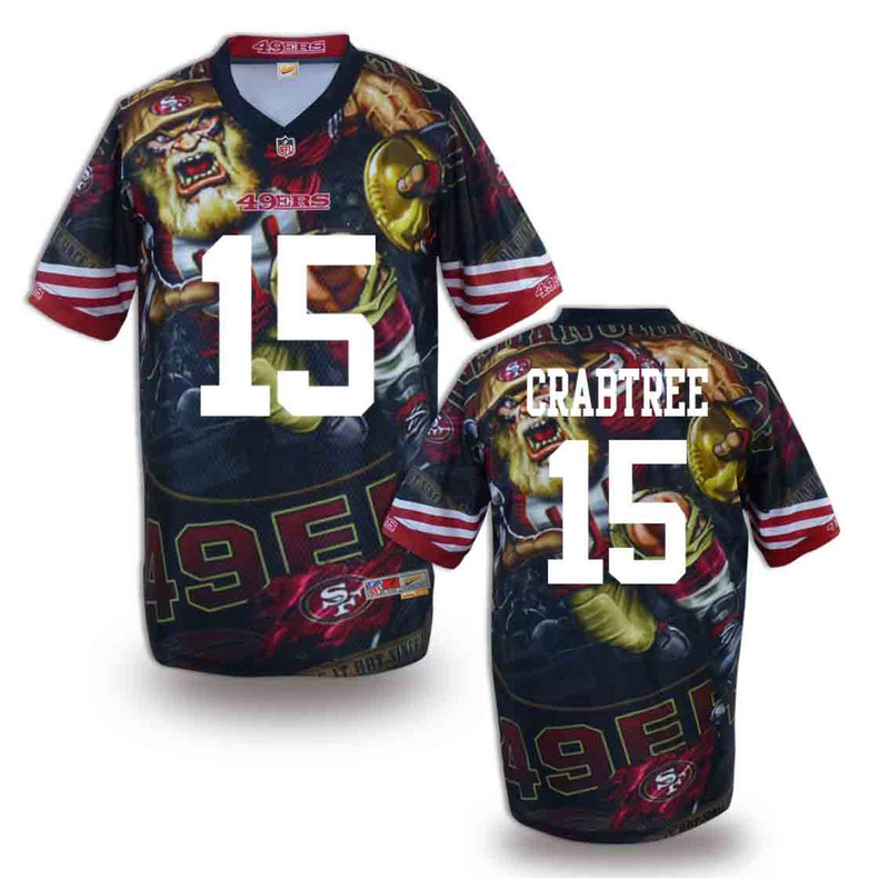 San Francisco 49ers 15 crabtree NFL fashion version Jersey 12