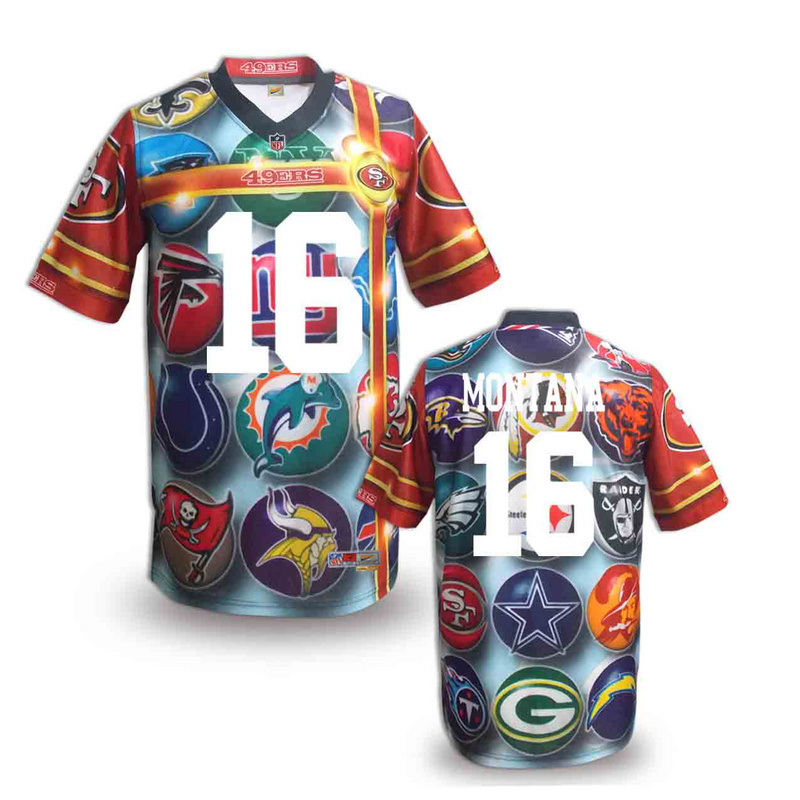 San Francisco 49ers 16 Montana NFL fashion version Jersey 2