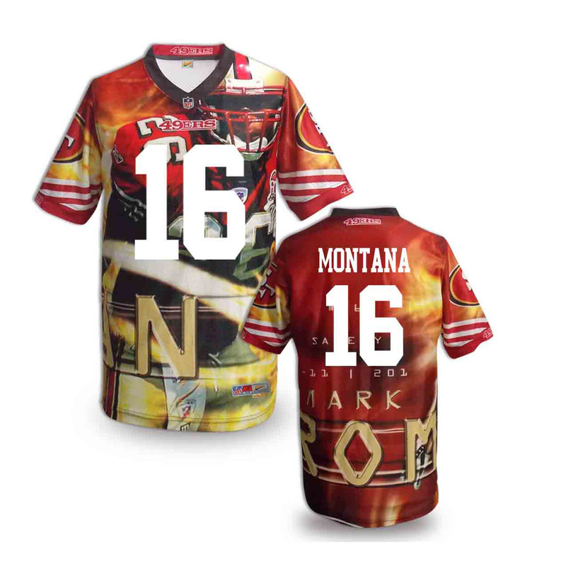 San Francisco 49ers 16 Montana NFL fashion version Jersey 3