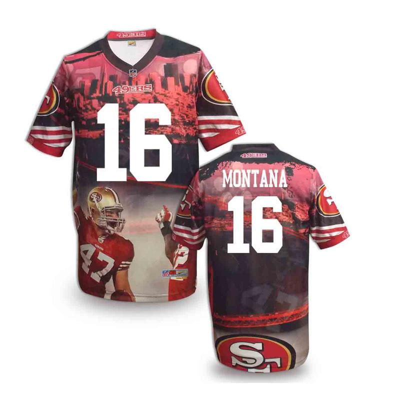 San Francisco 49ers 16 Montana NFL fashion version Jersey 4