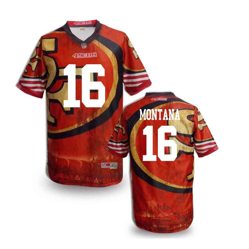 San Francisco 49ers 16 Montana NFL fashion version Jersey 5