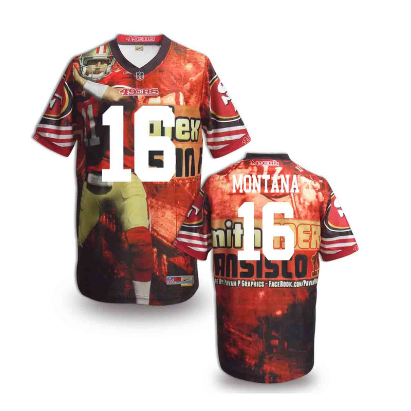 San Francisco 49ers 16 Montana NFL fashion version Jersey 6