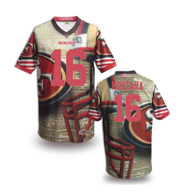 San Francisco 49ers 16 Montana NFL fashion version Jersey 7