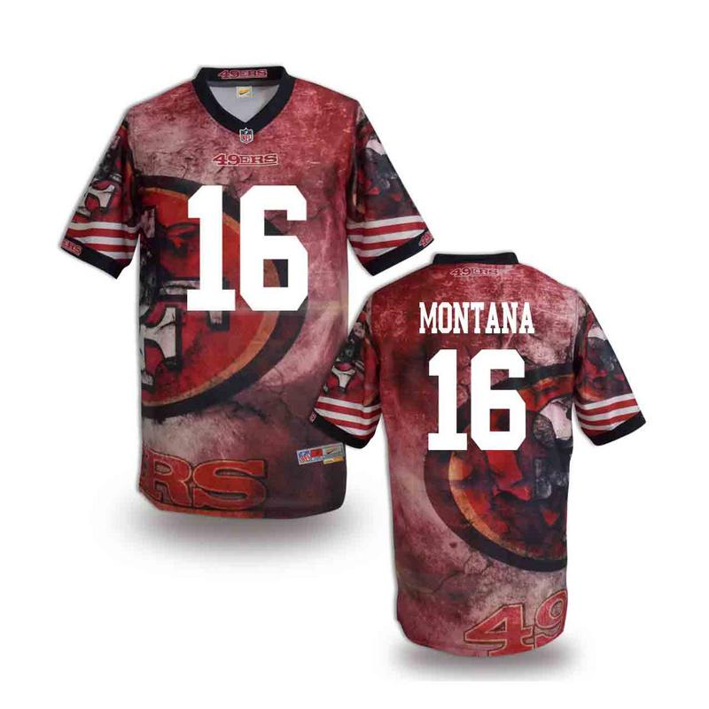 San Francisco 49ers 16 Montana NFL fashion version Jersey 10