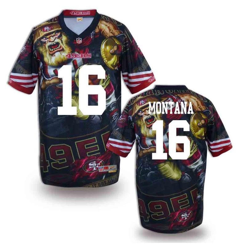 San Francisco 49ers 16 Montana NFL fashion version Jersey 12