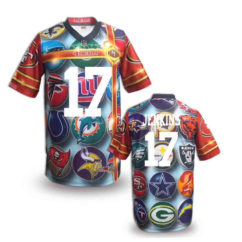 San Francisco 49ers 17 Jenkins NFL fashion version Jersey 2