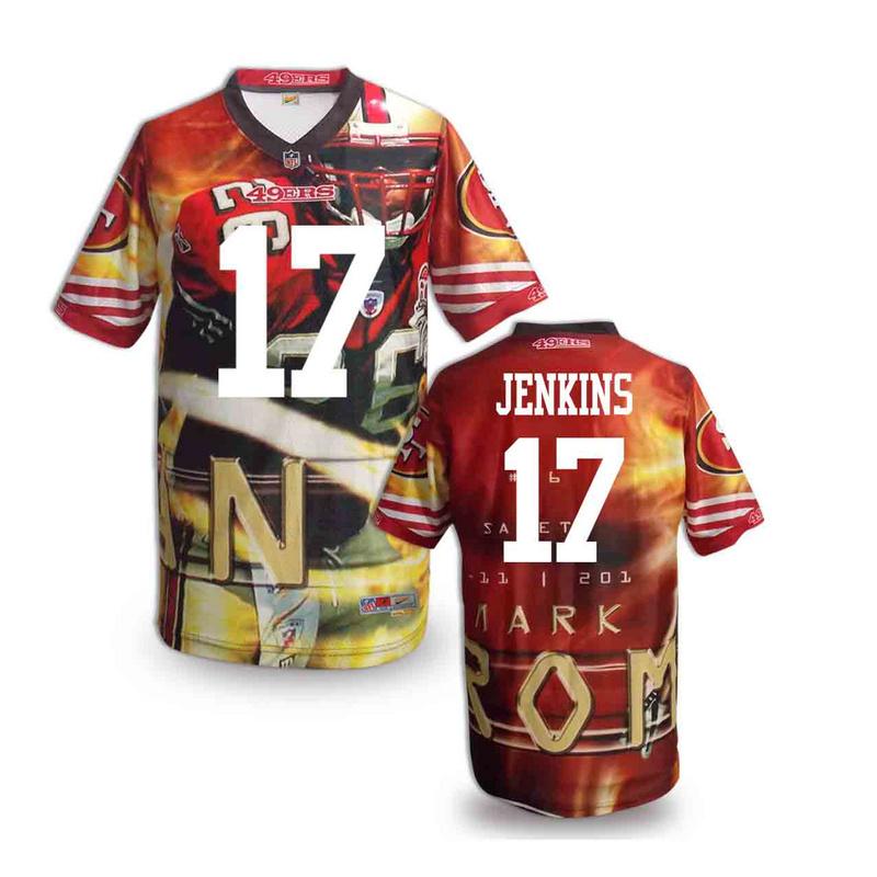 San Francisco 49ers 17 Jenkins NFL fashion version Jersey 3